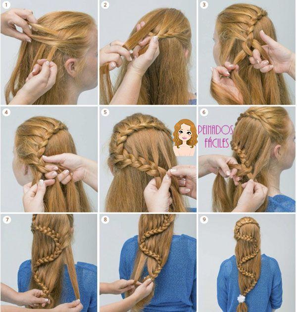 Tutorial de trenza para cabello largo en Zig Zag