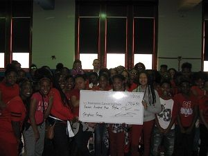 Robeson Malcolm X Academy raises money to fight breast cancer. Robeson Malcolm X Academy raised $702.50 for fight cancer during their annual Gryphon Giving campaign. On Oct. 19, 2016, students, staff, parents and community members donated money in order to walk five miles through the neighborhood around the school on Detroit's northwest side.