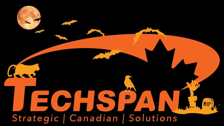 The Techspan Logo all dressed up for Halloween!!