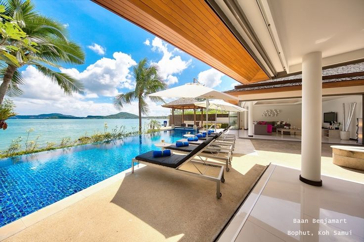 Baan Benjamart (Bophut, Koh Samui) contemporary, spacious rooms that open out to soothing sea views of the inspiring tropical beachside. Available with affordable rates, makes this the perfect choice for friends or families seeking a luxurious private holiday home. #samui #kohsamui #luxuryvilla #baanbenjamart PAY 2 NIGHTS, STAY 3 NIGHTS (1 NIGHT FREE) PAY 3 NIGHTS, STAY 5 NIGHTS (2 NIGHTS FREE) www.luxuryvillasandhomes.com/Baan-Benjamart.html