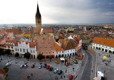 Sibiu, Romania, one of Europe's most idyllic places to live - via Alexandra Pana