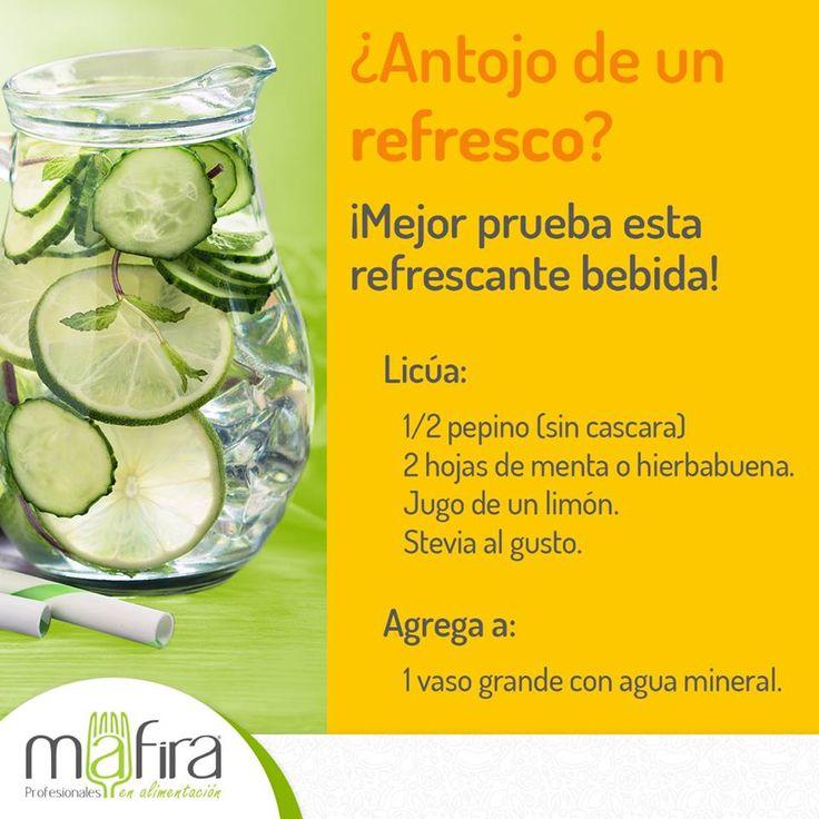 El refresco es la mayor fuente de azúcar y calorías vacías en la dieta mexicana actual. Opta por algo más natural para acompañar tu menú #Mafira