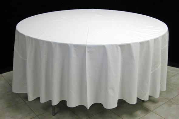 108 tablecloth on a 60 table cloths will hang 6 from