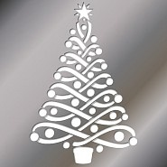 Love this Christmas stencil, could be used for so many things.
