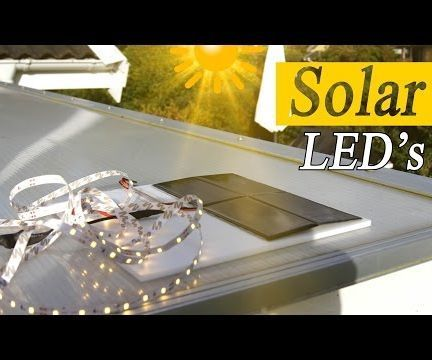 Solar power is amazing! You can power motors, lights or any electrical device…