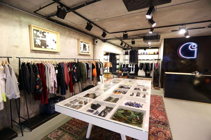 """CARHARTT, Work in Progress (WIP), Berlin, Germany, """"The First Pure Womenswear Store"""", pinned by Ton van der Veer"""