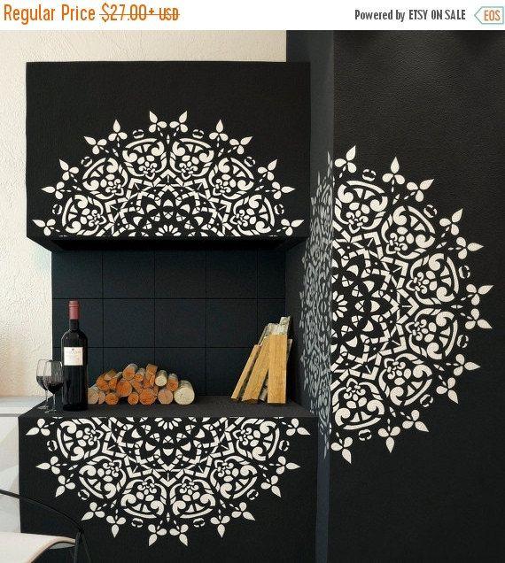 Lovely ON SALE Round Symmetrical Mandala Stencil by StencilsLabNY
