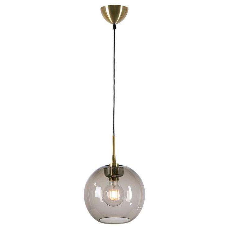 Gloria Røykfarget Hengelampe Messing 16/19/26/32/38 cm - Pendler og hengelamper - Taklamper - Innebelysning | Designbelysning.no