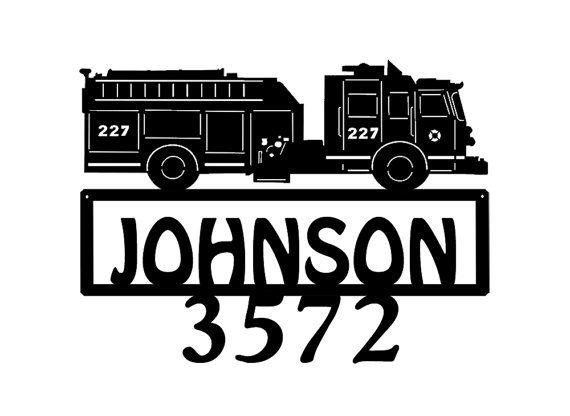 Pompier métal nom adresse signe numéros de par MegaMetalDesigns