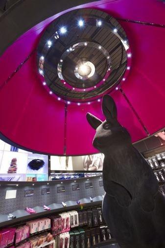 Giant black rabbit for Ann Summers shop #propstudios #annsummers