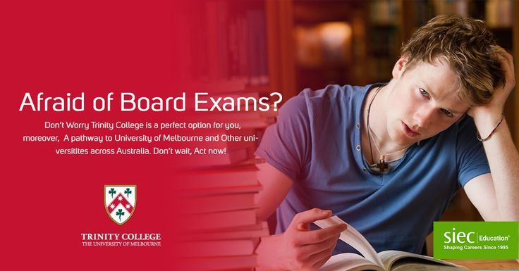 Afraid of Board Exams? Don't Worry Trinity College is a perfect option for you, moreover, A pathway to University of Melbourne and Other universities across Australia. Don't wait, Act now! Register Now for Study at Trinity College, Australia-http://siecindia.com/study-abroad-trinity/ Call- 9779046382 #SIEC #StudyAbroad #StudyinAustralia #TrinityCollege #UniversityofMelbourne