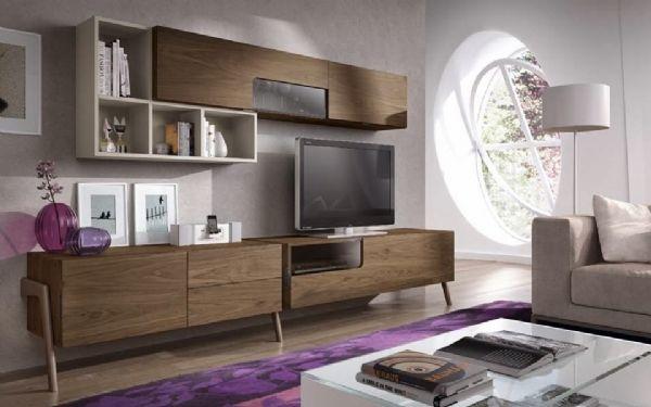 Mueble de salon uhu nogal y arena muebles mesegue - Muebles mesegue ...