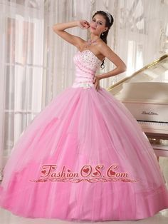 quinceanera dresses bubble gum pink tulle - Google Search