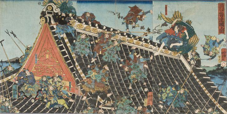 Battle on roof of Horyukaku