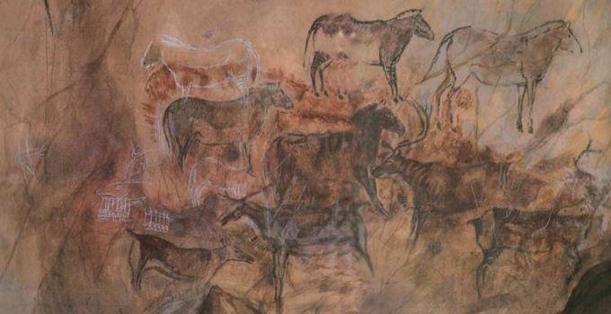 Pinturas rupestres en la Cueva de Tito Bustillo, Ribadesella (España)  Favor...