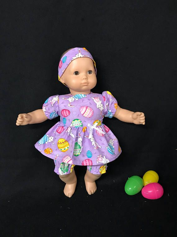 """Easter Bunny Dress 15/"""" Doll Clothes Handmade to Fit American Girl  Bitty Baby A"""