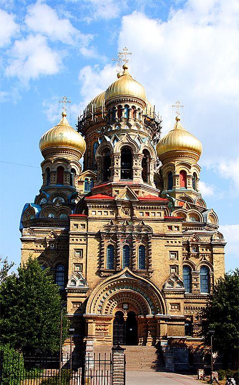 Very ornate Karosta Orthodox Church, Latvia.  Highly embellished and absolutely beautiful.