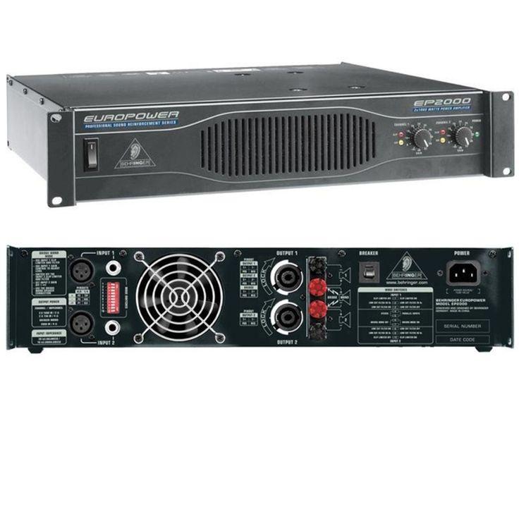 Amplificador de potencia EP-2000, Behringer tan solo $950.000.