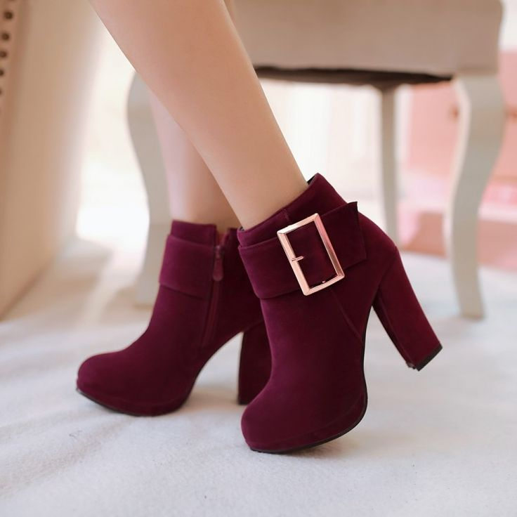 2014 USES the spring and autumn period and the warm boots boots coarse high boots with metal decoration knight joker high-heeled boots boots on EdithJewelry.com
