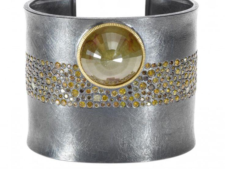 25.35ct Rose Cut Golden Diamond Cuff
