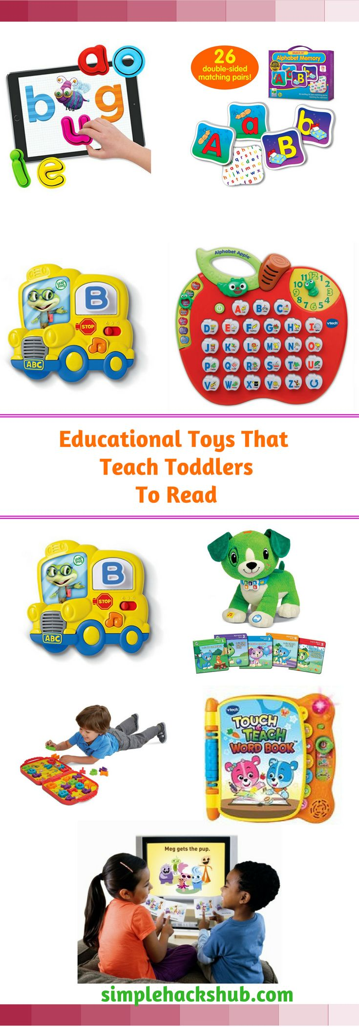 These cool and fun toys will help you to teach phonics to preschoolers and toddlers.  I JUST LOVE the playful tone of them all!  Cute too!