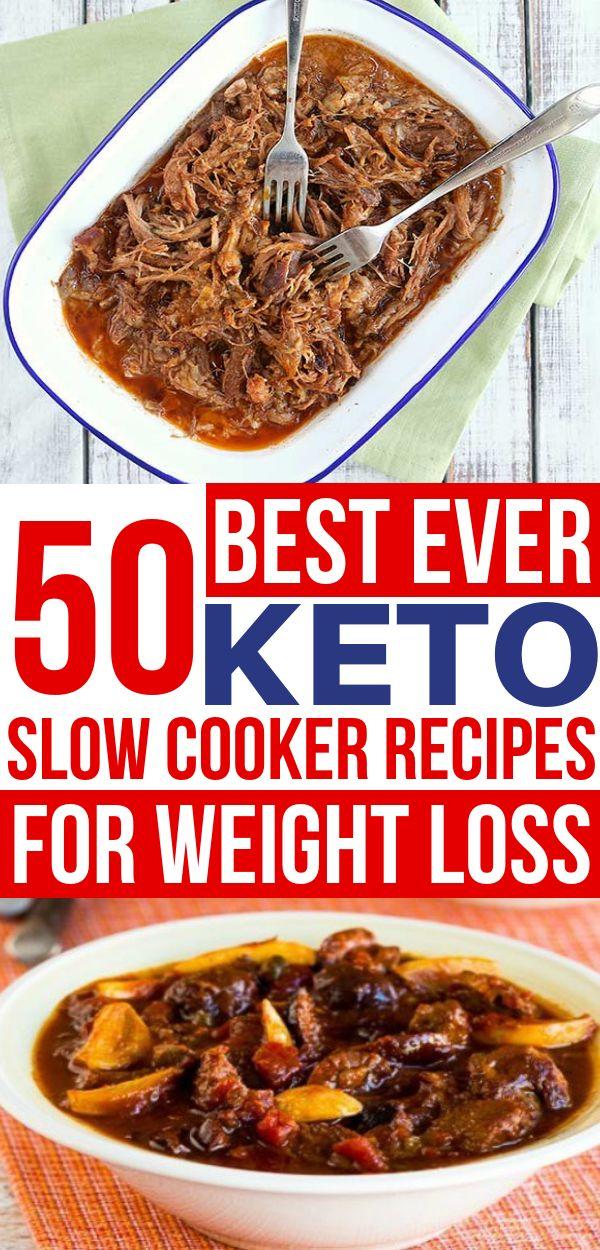 Las mejores recetas de olla de cocción lenta Keto! Estos platos crockpot bajos en carbohidratos son …