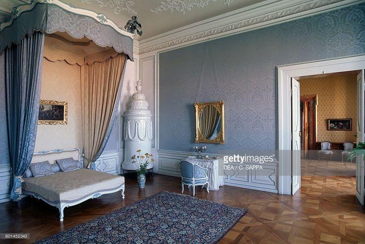 Prince's bedroom, Valtice castle, Lednice-Valtice cultural landscape (UNESCO World Heritage List, 1992), Czech Republic, 16th-18th century.