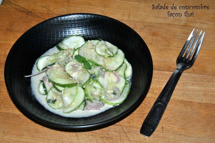 Salade de concombre façon thaï