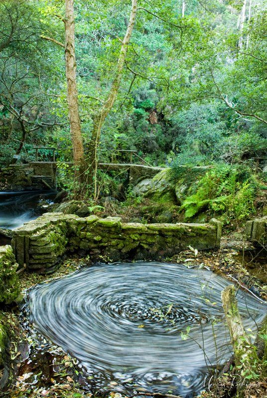 Remolino que forma el río en el Refugio de Verdes #costadamorte