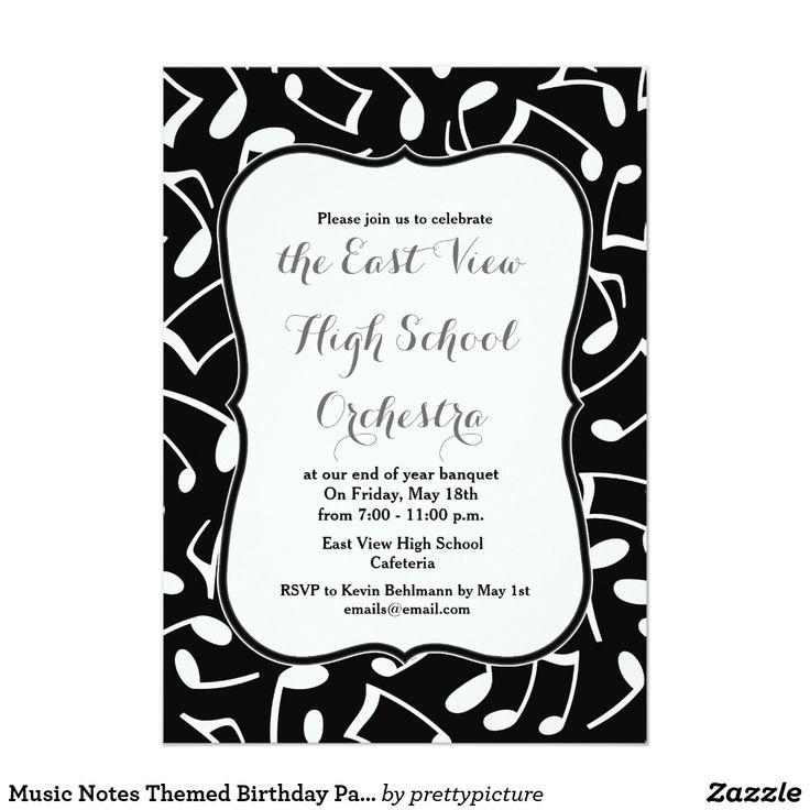 10 best music note invites images on pinterest music lyrics music music notes themed birthday party invitation stopboris Gallery