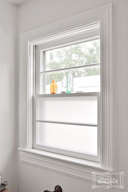 frosted window film great way to keep natural light and privacy i used this - Bathroom Window