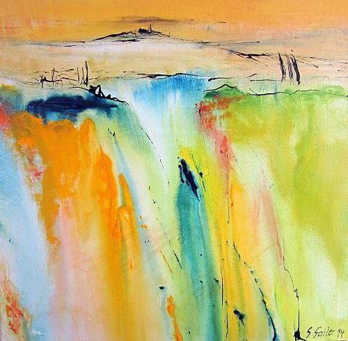 """Silvia Sailer, """"Toskanischer Sommer II"""" Mit einem Klick auf 'Als Kunstkarte versenden' versenden Sie kostenlos dieses Werk Ihren Freunden und Bekannten."""