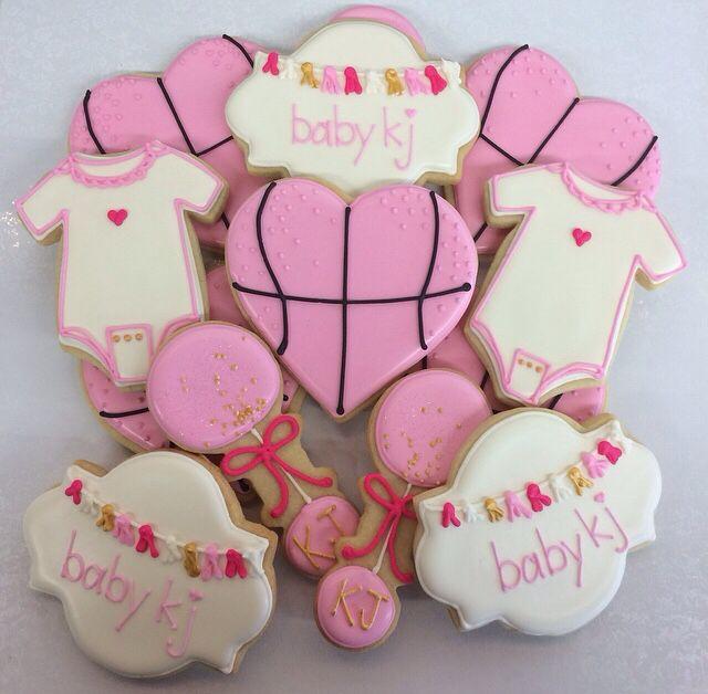 Baby Girl Basketball Baby Shower Cookies