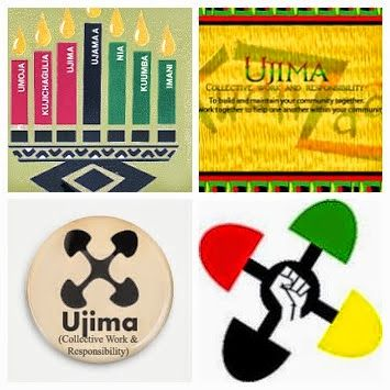 The third day of Kwanzaa is December 28th.  This is the time to emphasize the 3rd principle of  Kwanzaa , Ujima or collective work and responsibility. On the third day, the lighting of candles starts again with the  black one , then the farthest left red one and them the utmost right green one are lit. Read more at http://www.theholidayspot.com/kwanzaa/sevendays.htm#X0wK6G8LGdVZbfjV.99 #Kwanzaa2014