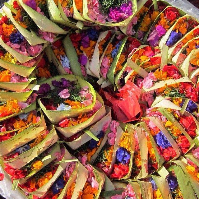 Beautiful offerings for a beautiful day in Bali : @oceansoulretreat #balilife #balilove #ceremonies #offerings #culture #hindu #gods #bali #honeycombersbali