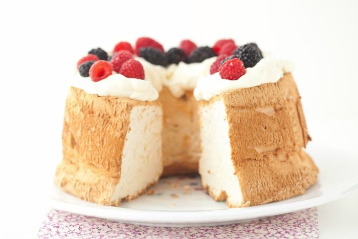 Angel Food Cake is worth the time investment and provides a fun activity for kids to join in, especially since you need to cool it upside-down!