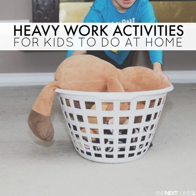 Heavy Work Activities for Home {Free Printable}