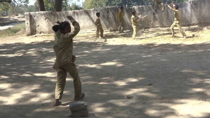 how playing a village cricket in india