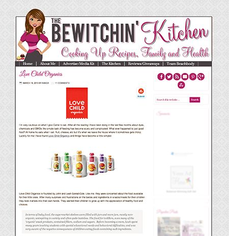 Blog Review: The Bewitchin' Kitchen