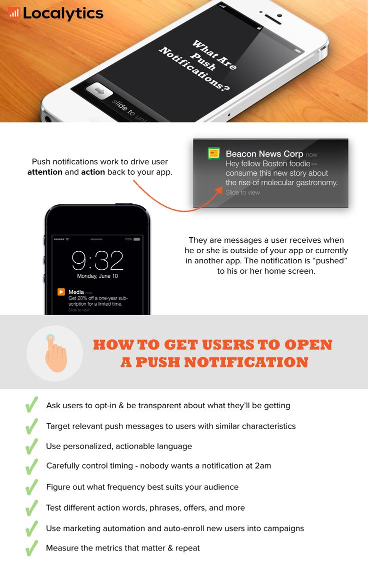 What are push notifications? #infographic via @localytics blog