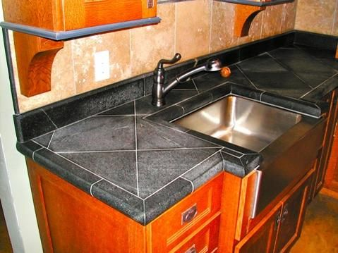granite tile done better the big diagonal and expensive edge bits make this interesting and not like the cheap alternative