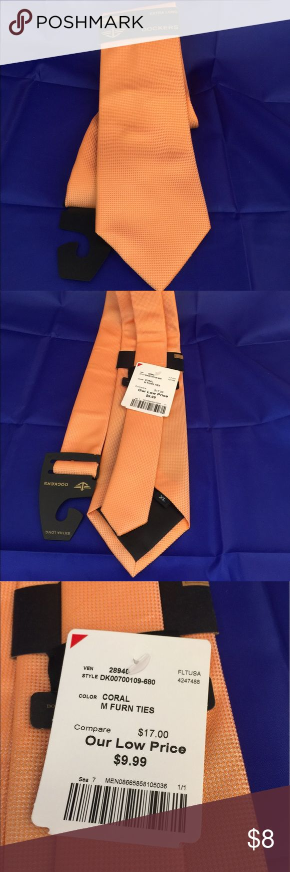 Dockers Extra Long Tie Dockers extra long tie. Color: coral, brand new with tag.. Dockers Accessories Ties