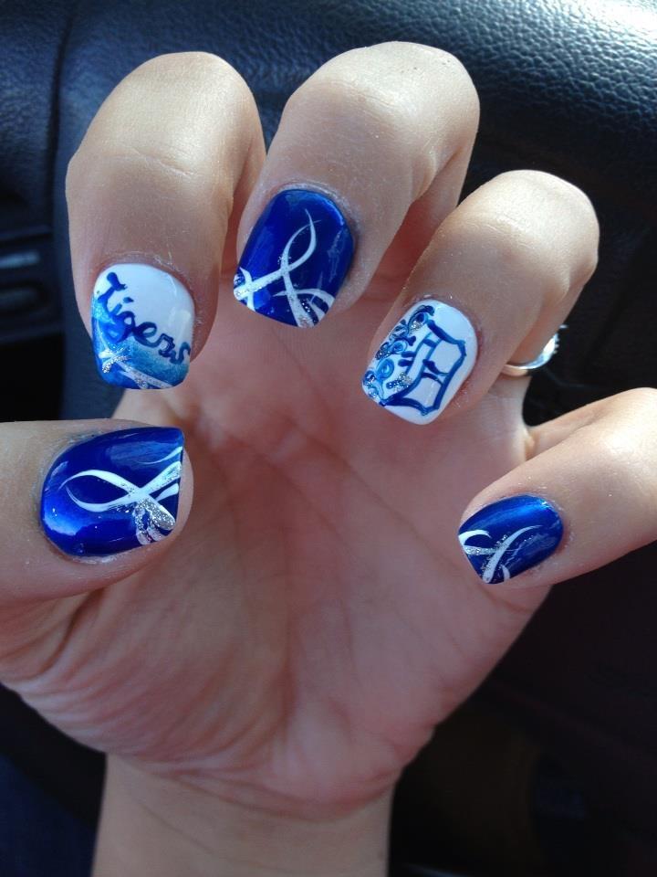 My Detriot Tigers Nails((: