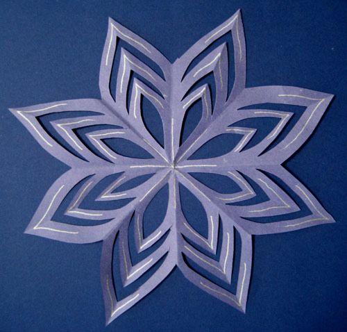 ... en papier, Modèles d'artisanat de papier and Flocons de neige en