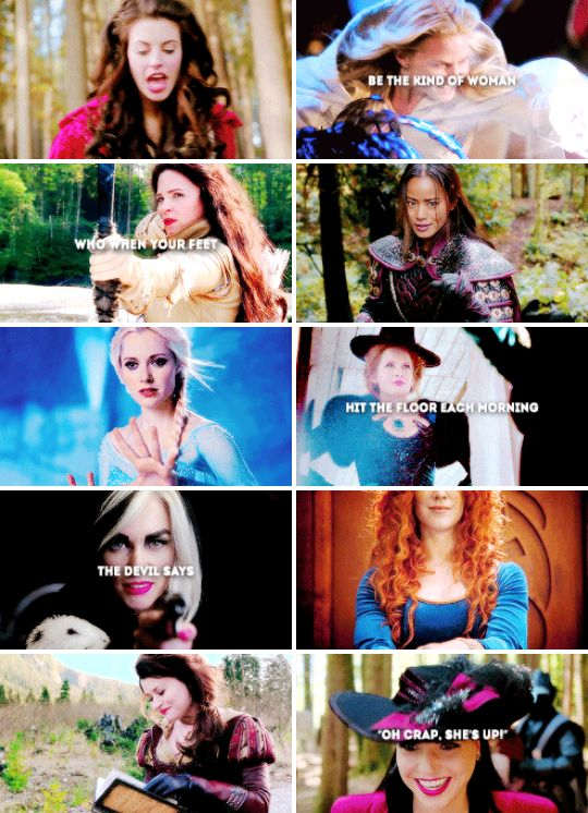 """Be the kind of woman who, when your feet hit the floor each morning, the devil says 'Oh, crap, she's up!'"" #ouat"