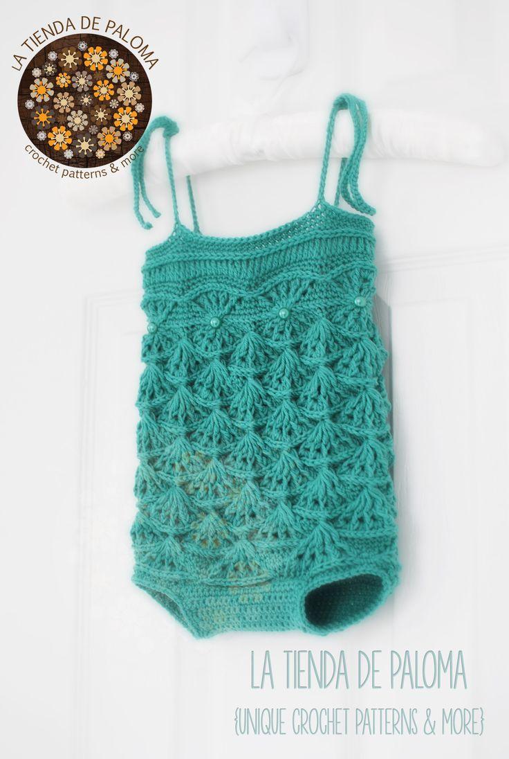 Crochet Pattern Mermaid Maddie Romper by La tienda de Paloma