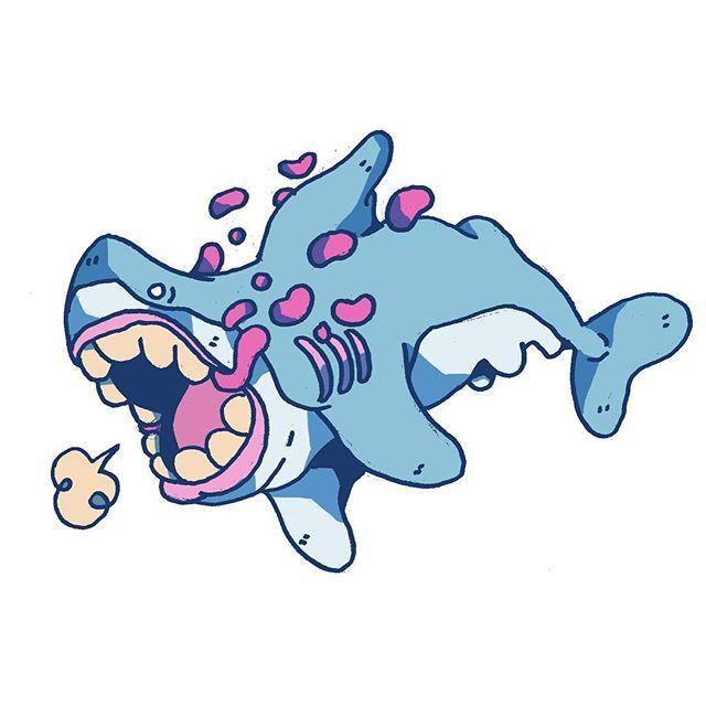 Dalton shark #doodle #sketchbook #shark #drawing