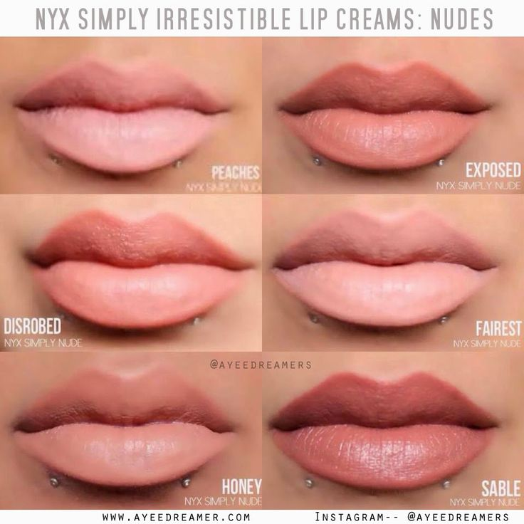 NYX Simply Nude Lip Cream - Sable looks gorgeous