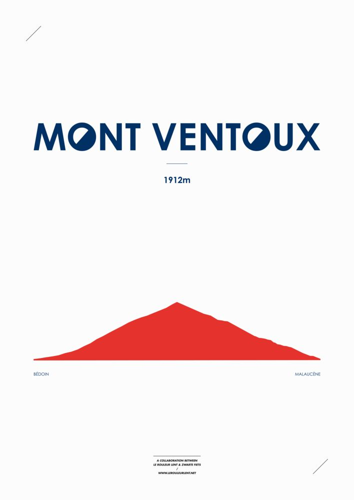 One of France's famous climbs : Mont Ventoux. Beautiful.