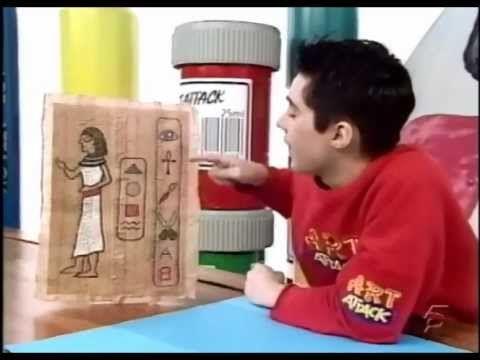 hacer un papiro art attack